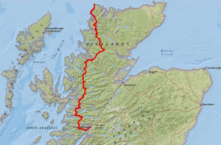 Itinéraire du Cape Wrath Trail