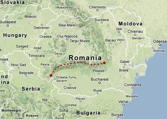 Traversée des Carpates méridionales en Roumanie