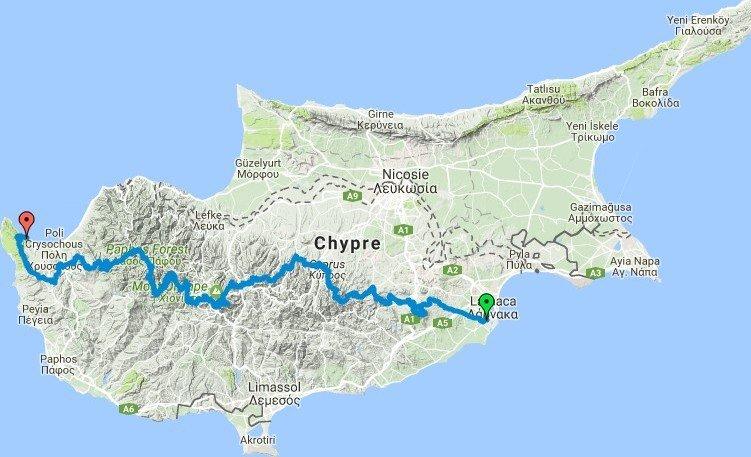 Itinéraire Chypre par le sentier européen E4