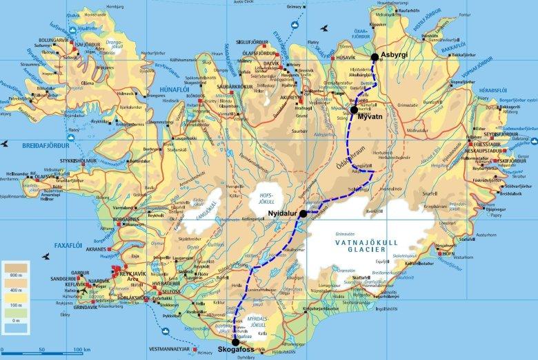 Traversée de l'Islande du nord au sud